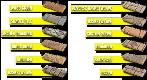 Artistic Curbing & Edging - Custom Stamped Curbing Samples