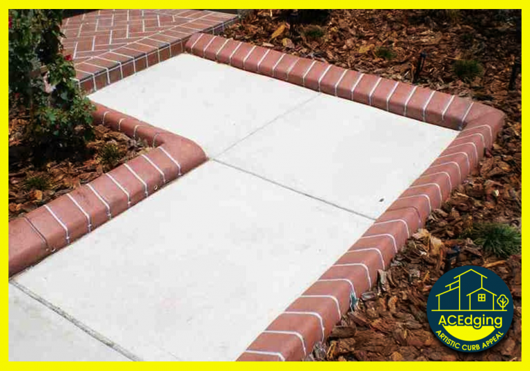 Artistic Curbing & Edging - Custom Stamped Curbing - Single Brick