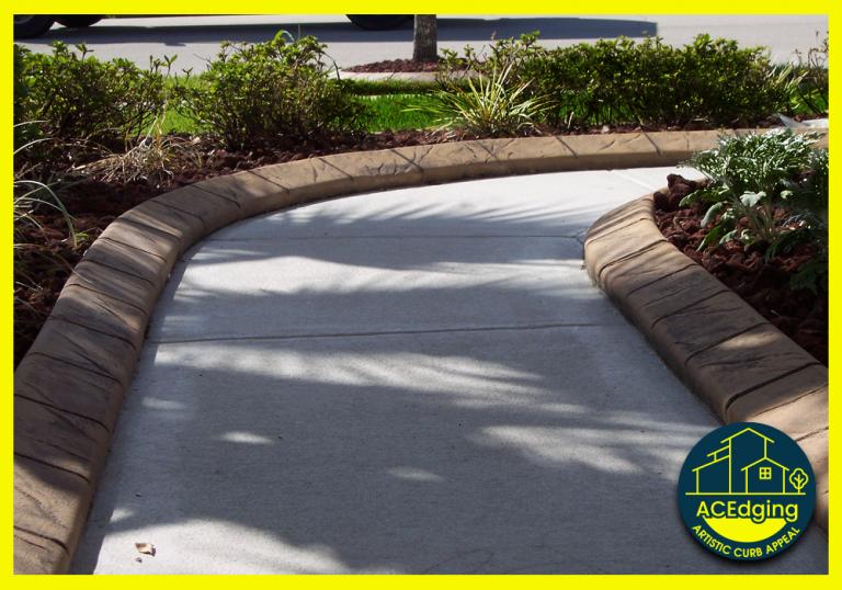Artistic Curbing & Edging - Custom Stamped Curbing - Slate Tile