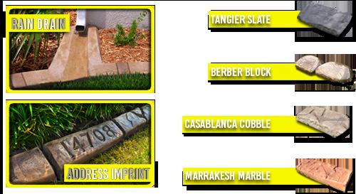 Artistic Curbing & Edging - Moroccan Natural Stone Samples